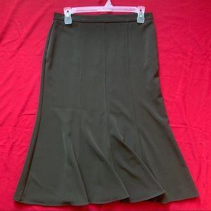 Dark Green Maxi Skirt